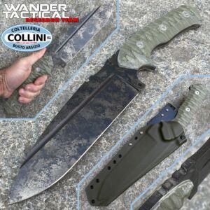 Wander Tactical - Smilodon - Marble and Green Micarta - handmade knife