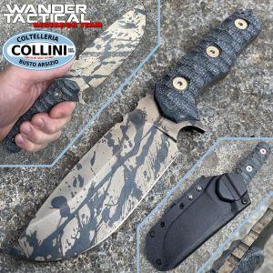 Wander Tactical - Lynx - Black Blood and Black Micarta - handmade knife