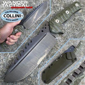Wander Tactical - Uro Saw - Raw and Green Micarta - handmade knife