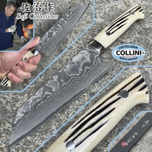 Takeshi Saji - Bunka Knife 180mm in deer horn - VG-10 32 layers - vegetable kitchen knife