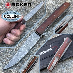 Boker Plus - Urban Trapper Cocobolo Damascus knife by Brad Zinker - 01BO176DAM - folding knife
