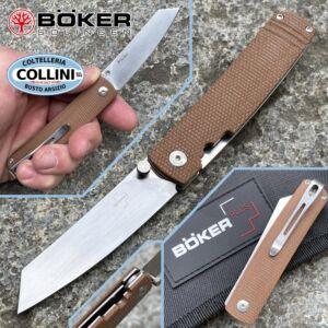 Boker Plus - Tenshi Micarta knife by Kansei Matsuno - 01BO327 - folding knife