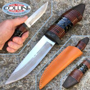 Takeshi Saji - Koinobori - black carp skin - custom Knife
