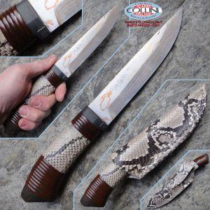 Takeshi Saji - Shiroi Hebi Hanta - Pitone - custom knife