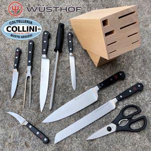 Wusthof Germany - 9 Piece Knife Block - Beech - 1090171204