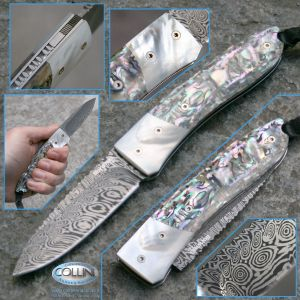 Lion Steel - Opera and Mother of Pearl Abalone by Max - 8800DMOP knife