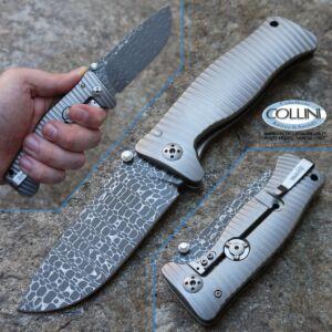 Lionsteel - SR-1DLG - Damasco Lyzard e Titanio Grigio - coltello