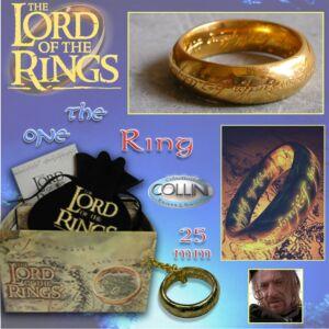 Lord of the Rings - Anello del Potere inc. Oro 25mm 98.01 - Il Signore degli Anelli