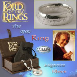 Lord of the Rings - Anello del potere in argento 18mm R220/P - Il Signore degli Anelli