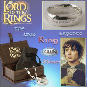 Lord of the Rings - Anello del potere in argento 22mm R220 - Il Signore degli Anelli