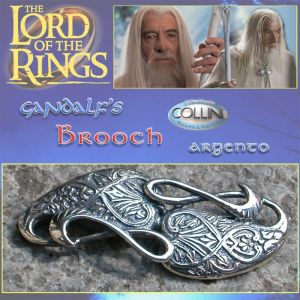 Lord of the Rings - Spilla di Gandalf R226.40 - Argento 925 - Il Signore degli Anelli