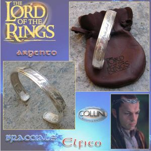 Lord of the Rings - Bracciale Elfico Argento 925 - R225 - Il Signore degli Anelli