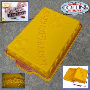 Silikomart - Rectangular silicone cake mold - Happy Birthday