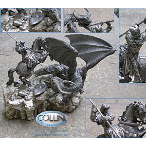 Les Etains du Graal - Miniatura San Giorgio e il Drago - Peltro