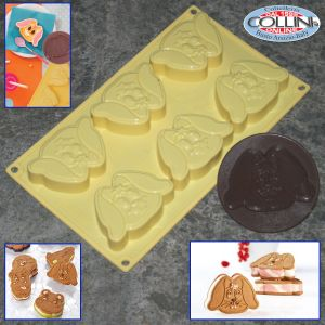 Pavoni - Silicone mold 8 molds Bunny