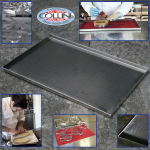 Pavoni - Drilled raw aluminum baking tray 60x40x2 cm. PIES PROJECT