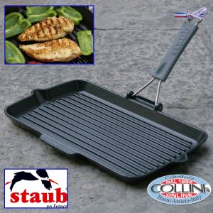 Staub -  Rectangular Griddle Pan with Silicone Handle
