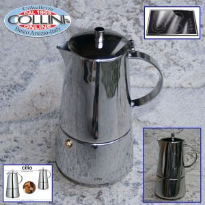 Cilio - Caffettiera 6 tazze inox per induzione