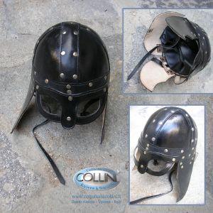 Museum Replica Windlass - Leather Viking Helmet 200494 - elmo in cuoio