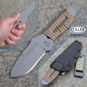 Tops - Desert Fox Paracord Knife - Grey - DFOX-01 - coltello