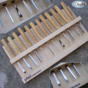 Pfeil - Sgorbie da legno professionali - Set 12 pezzi - D12