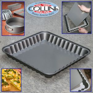 Woll - Square cake pan cm. 30 with  removable bottom