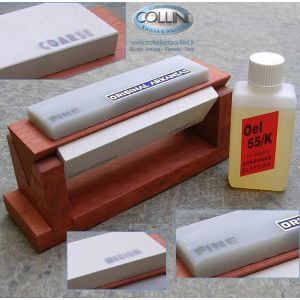 Linder - Trio of Arkansas stones for sharpening with oil L409615 - accessories knives