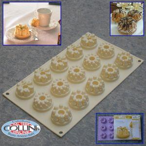 Birkmann - 15-Cavity Silicone Baking Mold Historica, Gugelhupf Ring Cakes