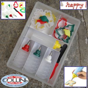 Kuhn Rikon - Cookie Cutter & Decoration Set Winter, Stainless Steel, Multi-Colour