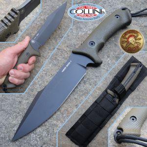 Spartan Blades - HARSEY Model II - Green Canvas Micarta - Knife