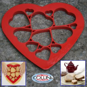 Lékué - Set cookie hearts puzzle for biscuits