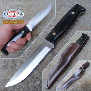 EnZo - Camper 125 - D2 - Black Canvas Micarta - 2083 - knife