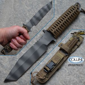Strider Knives - BT Fixed Blade Tanto Coyote Paracord