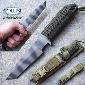 Strider Knives - WB Fixed Blade Tanto Green Paracord - coltello