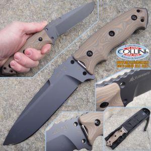 "Hogue - EX-F01 5.5 ""Fixed Drop Point Black Kote - G-10 G-Mascus Desert knife"