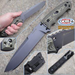 "Hogue - EX-F01 7"" Fixed Drop Point Black Kote - G-10 G-Mascus Green coltello"