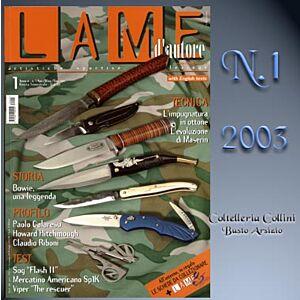 Lame d'autore - Numero 1 - Anno 2003  - rivista
