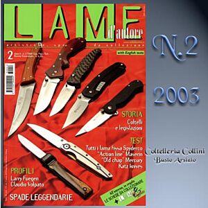 Lame d'autore - Numero 2 - Anno 2003  - rivista
