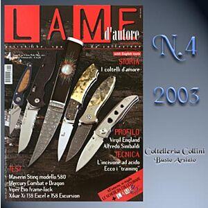 Lame d'autore - Numero 4 - Anno 2003  - rivista