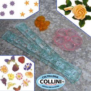 JEM - Set sugarpaste cutters flowers and fruit theme - CAKE DESIGN - PROMO
