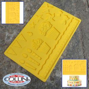 Wilton - Fondant and Gum Paste Mold - Birthday party design