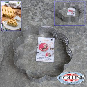 Decora - Stainless steel perforated FLOWER shape - cm 16 x 16 x 3, 5h - CROSTATE