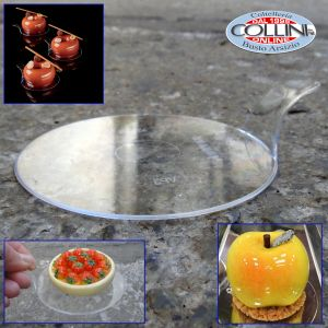 Pavoni -  Monoportions transparent round trays - Box of 50 pieces