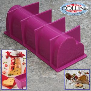 Pavoni - Slices in the house - Silicone heart cake mold
