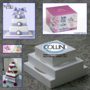 Silikomart - My WonderCake Square - kit 3 pezzi VERSIONE QUADRA