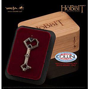 Weta Workshop - Ciondolo della Chiave di Erebor - Argento 925 - Lo Hobbit  - Il Signore Degli Anelli