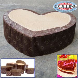 Decora - Heart  - Baking Paper Pan - 5 pcs