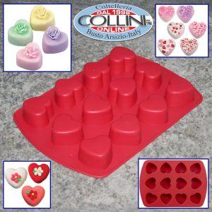 Wilton - Heart shape silicone to 12 cavities - Petite Heart Mold