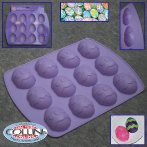 Wilton - Shape silicone egg to 12 cavities - kitchen