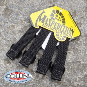 """Maxpedition - 3"""" TacTie Straps 4x Pack - Black - 9903B"""